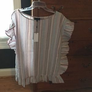 NWT. Cotton ruffle tunic